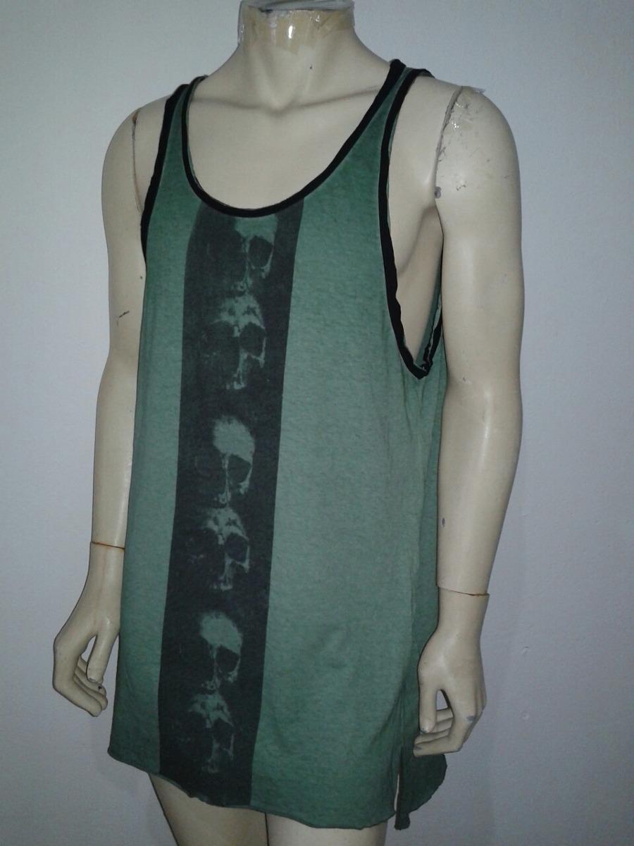 camiseta regata alongada masculina. Carregando zoom. 4ade1ae973b