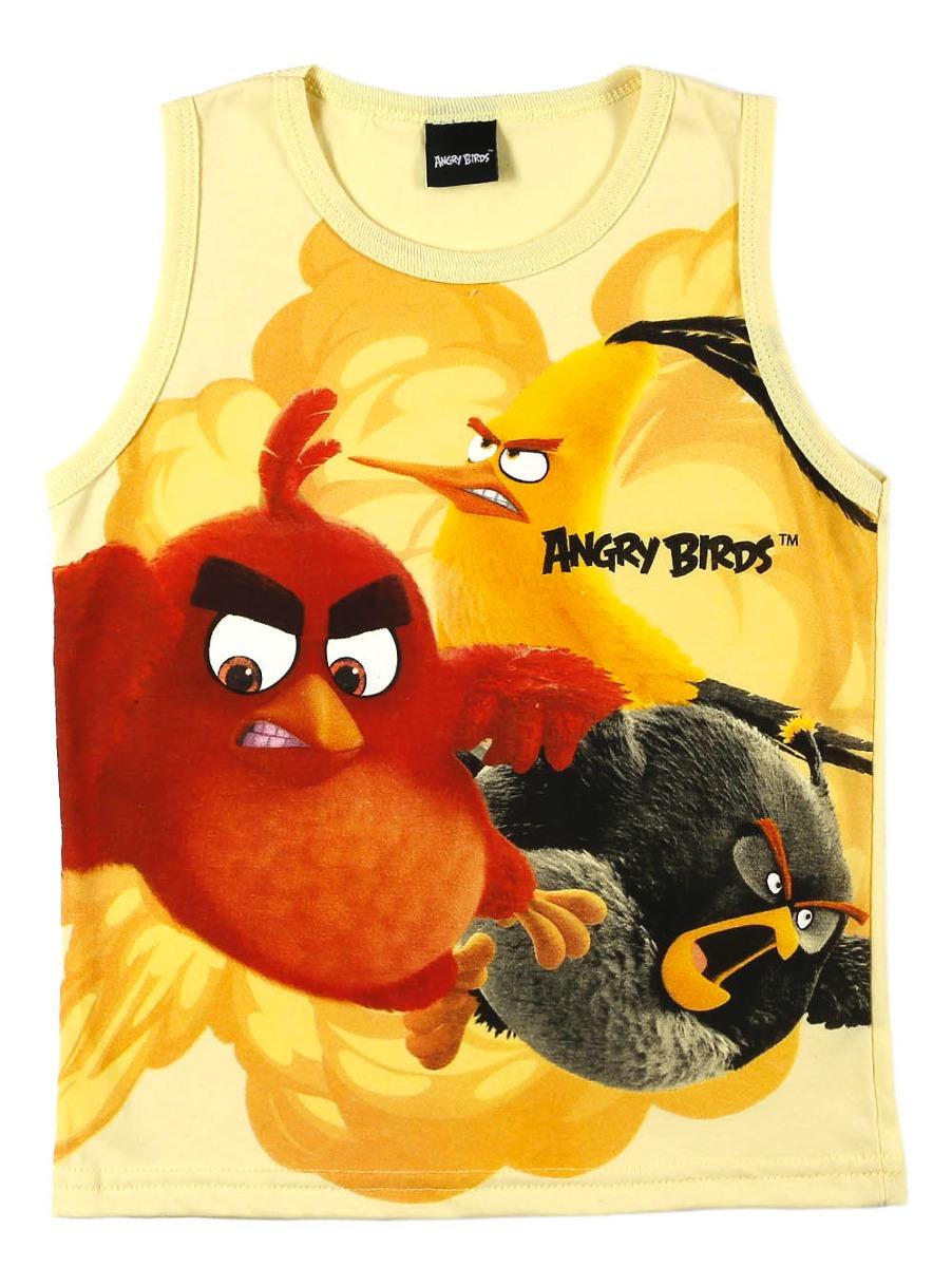 camiseta regata angry birds infantil para menino - amarelo. Carregando zoom. 193203a54a1