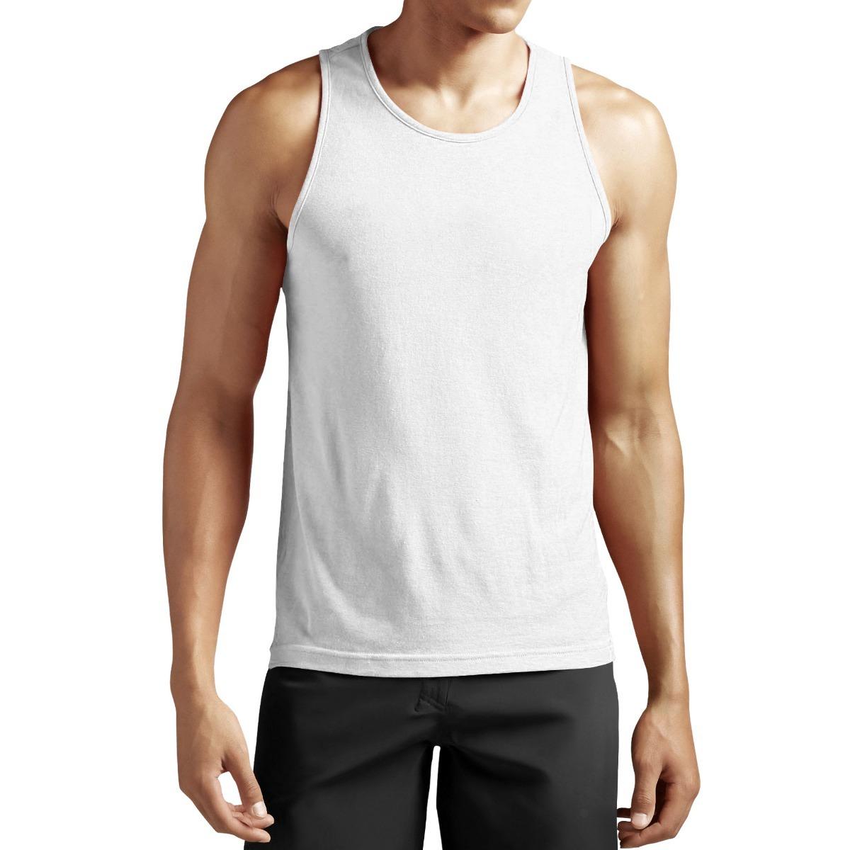 camiseta regata básica lisa tradicional academia branca. Carregando zoom. fc55daa2889