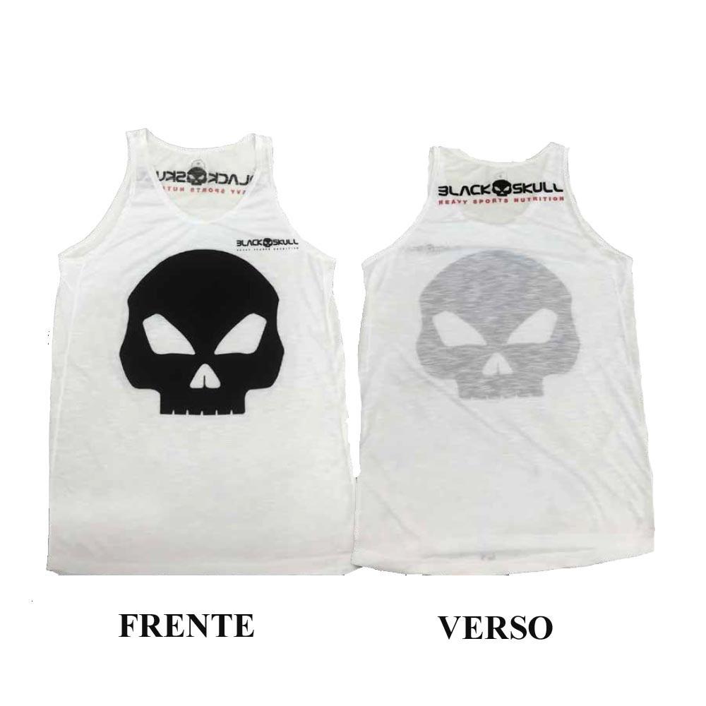 Camiseta Regata - Branca - Black Skull - R  42 f1702f06bff