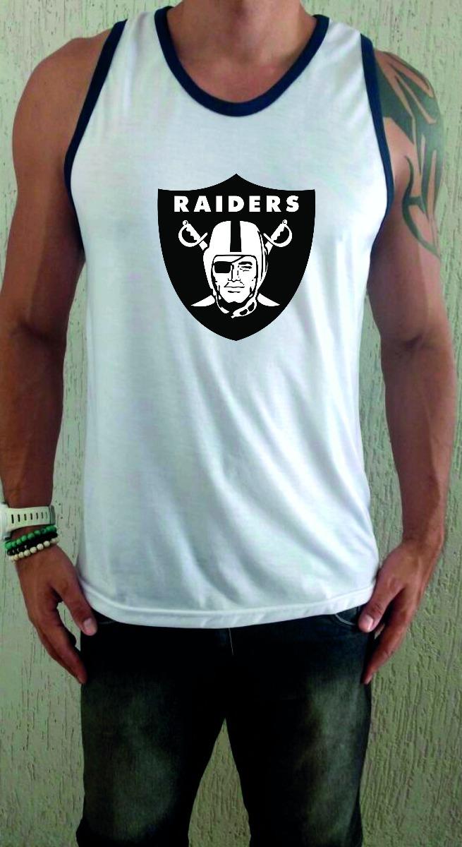 Camiseta Regata Branca Raiders Nfl 893e12efb28