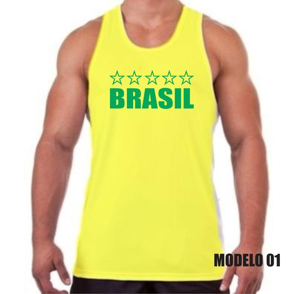 e3a315d3bc2d0 camiseta regata brasil hexa copa personalizada com nome. Carregando zoom.