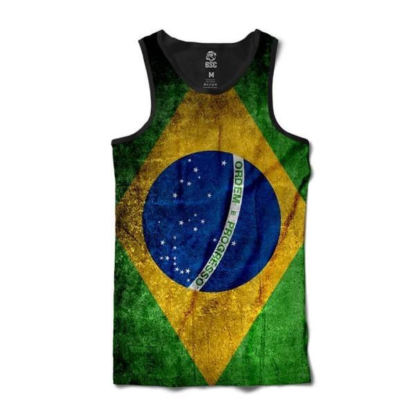 50b65174b1d93 Camiseta Regata Camisa Masculina Bandeira Do Brasil - R  149