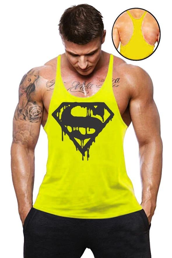 178352015e66a camiseta regata cavada academia treino musculação superman. Carregando zoom.