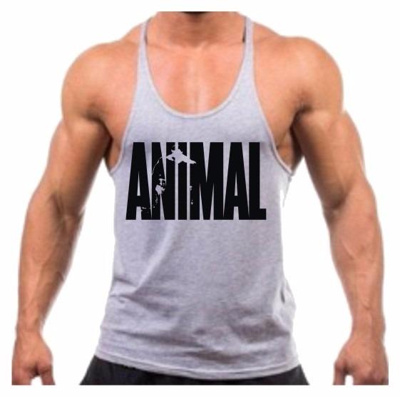 Camiseta Regata Cavada Animal Musculação Academia Treino Top - R  29 ... 43592a7586d