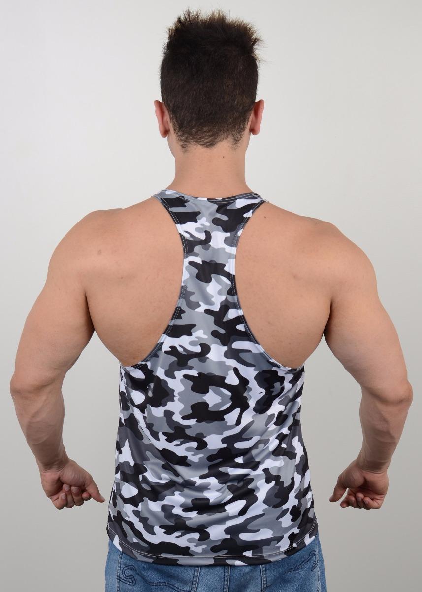 50638d4519876 camiseta regata cavada camuflada cinza musculação academia. Carregando zoom.