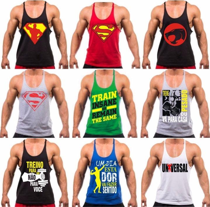 Camiseta Regata Cavada Masculina Academia Musculação Fitness - R  29 ... 39ac0de5c85