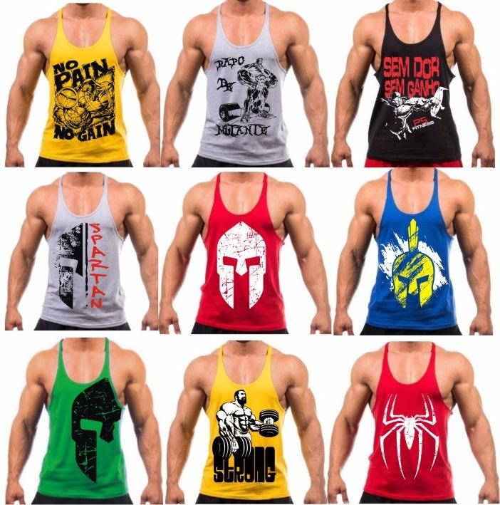 f8d298513062e Camiseta Regata Cavada Masculina Musculação Academia Treino - R  26 ...