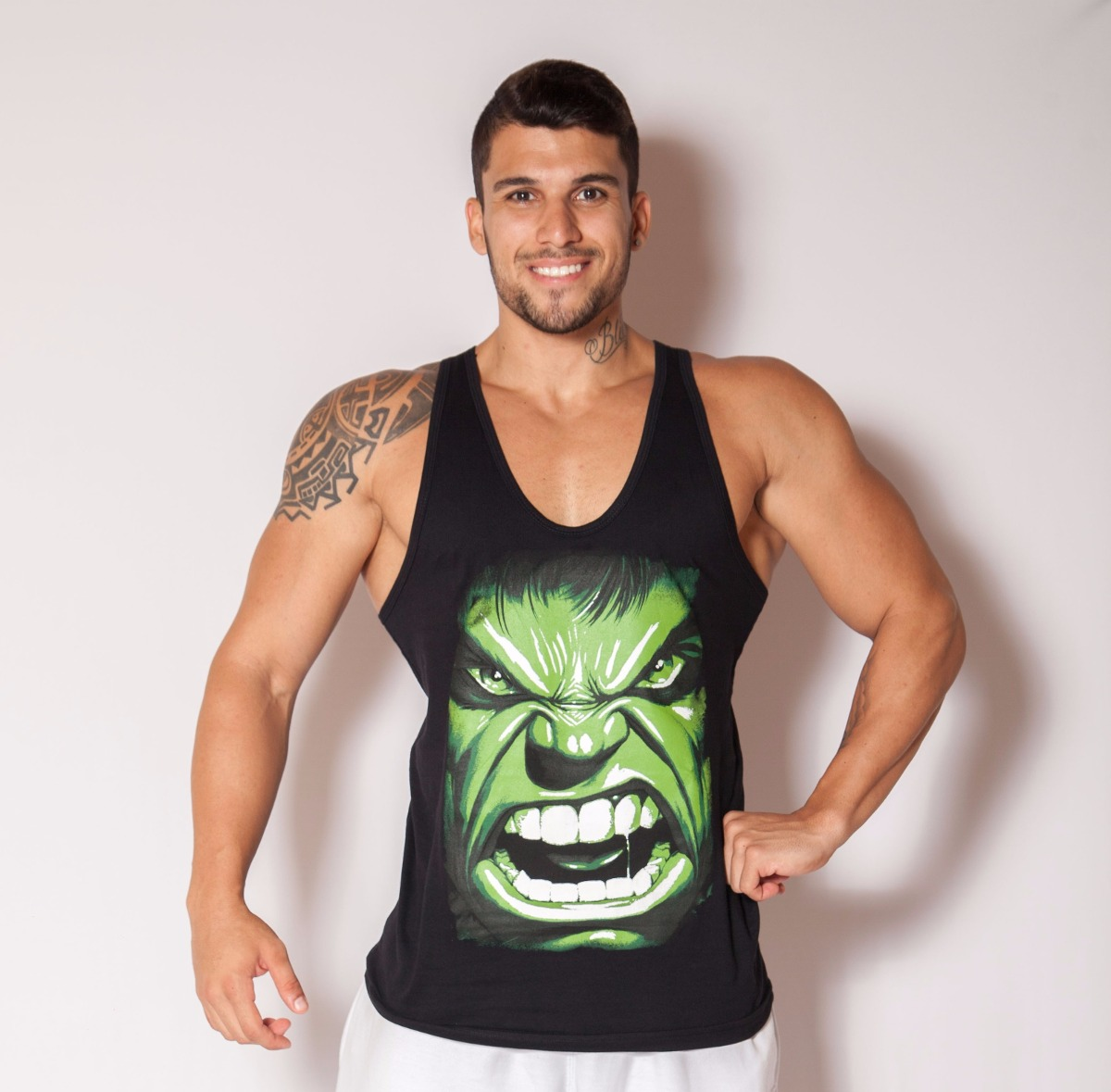 4ce7b19a39676 camiseta regata cavada masculina musculação fitness hulk. Carregando zoom.