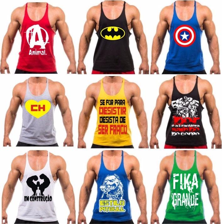 Camiseta Regata Cavada Masculina Universal Academia Fitness - R  29 ... a56bd0b158f