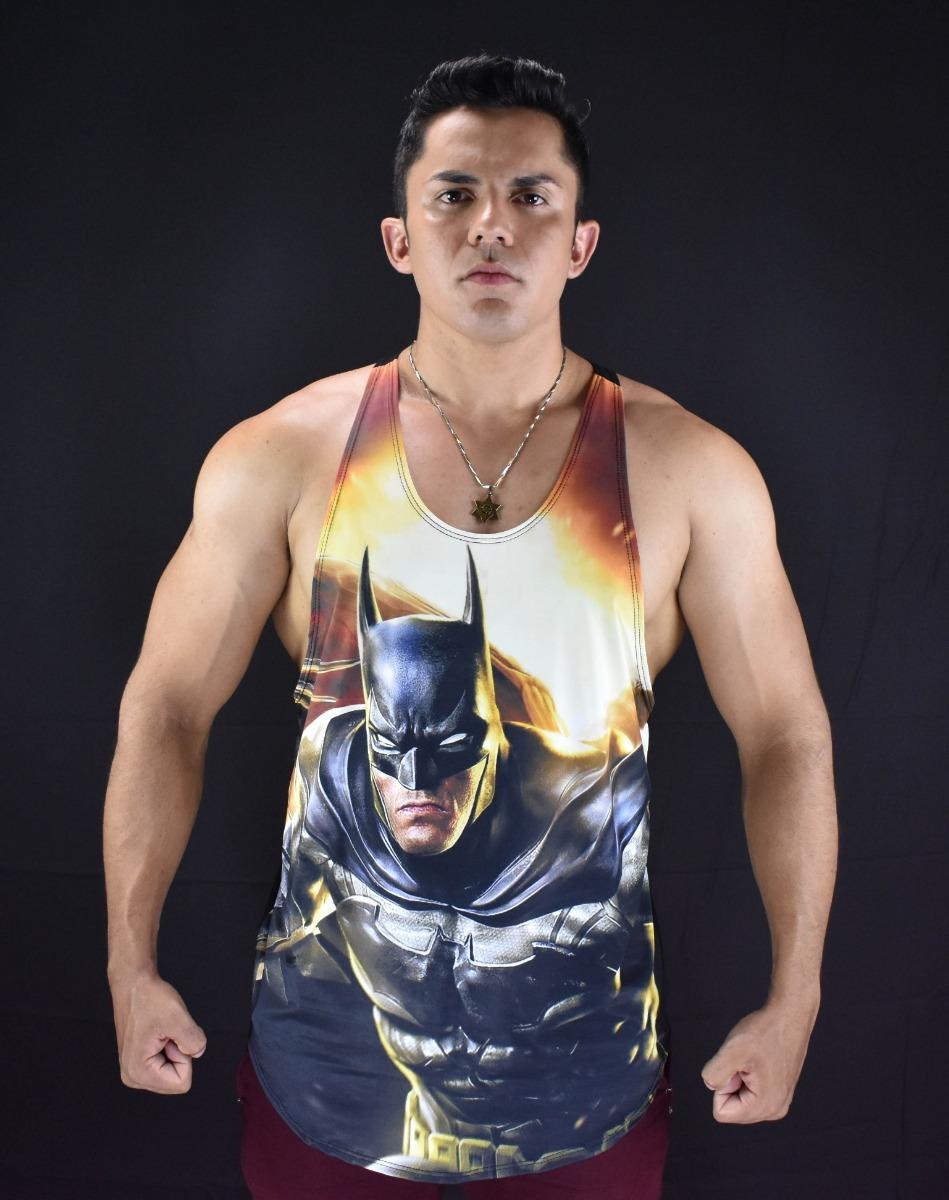 6588cded095bc camiseta regata cavada modelo batman musculação academia. Carregando zoom.