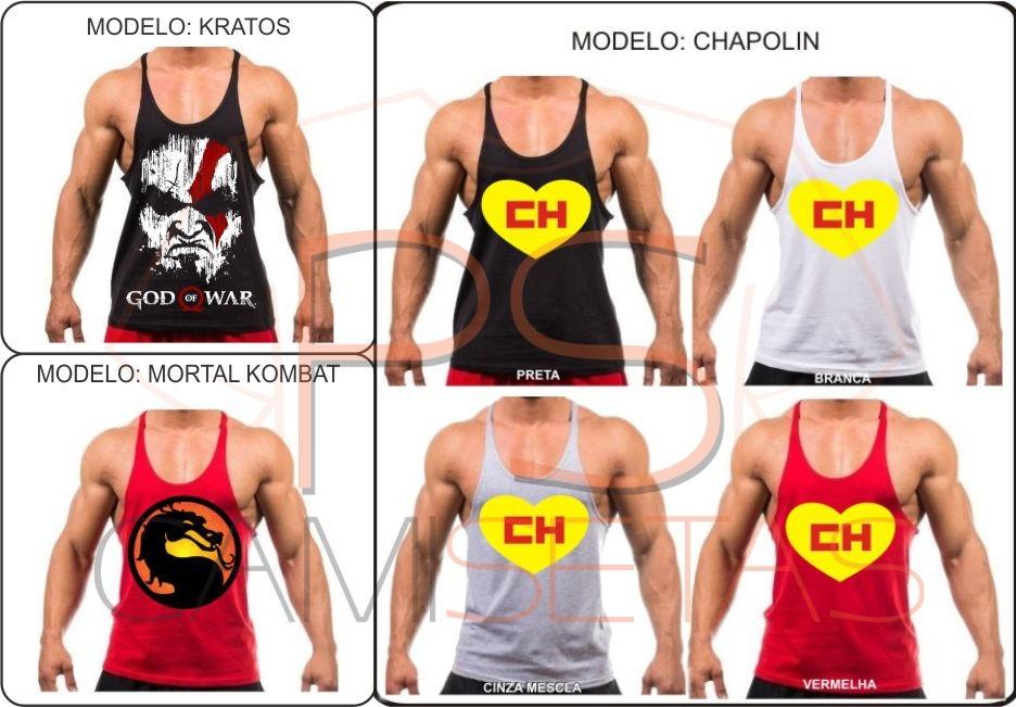 7d11a6bfc5c8e Camiseta Regata Cavada Modelo Exclusivo Musculação Academia - R  29 ...