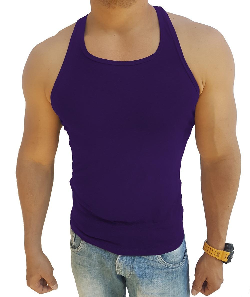 camiseta regata cavada nadador academia masculina musculação. Carregando  zoom. 07fe9fd3260