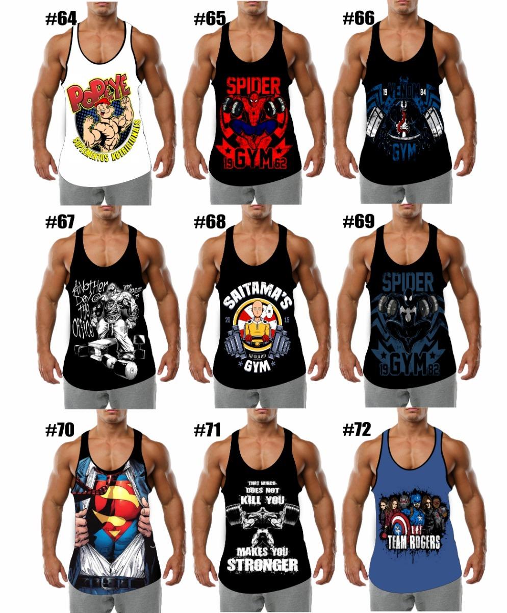 289294765d819 Camiseta Regata Cavada Nadador Masculina Fitness 30 Unidade - R  660 ...