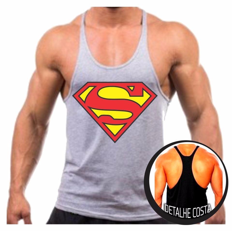 fcae39889 camiseta regata cavada superman musculação malhar preço. Carregando zoom.