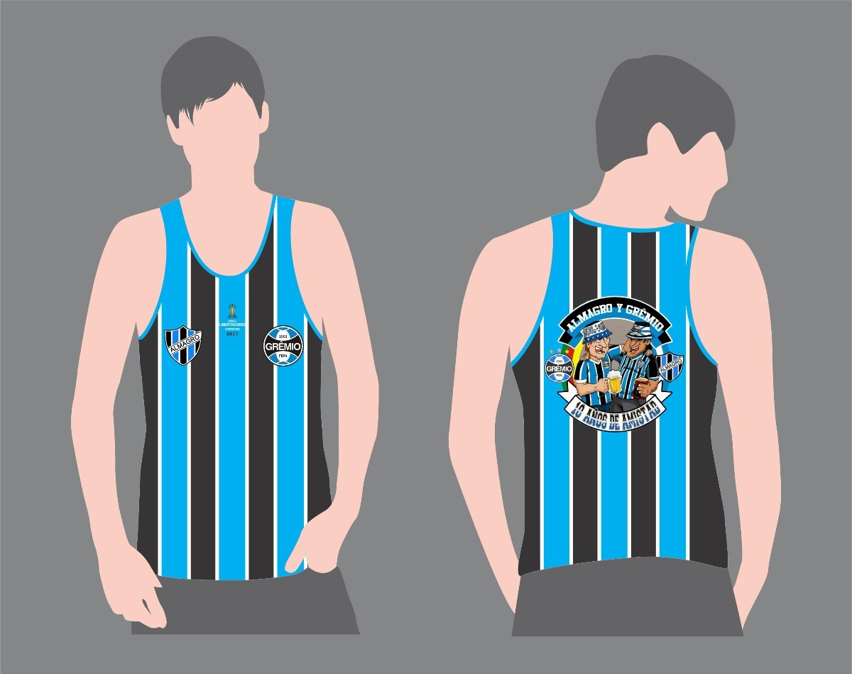 Camiseta Regata Cavada Torcida Consulado Do Grêmio - R  38 db31a24994151