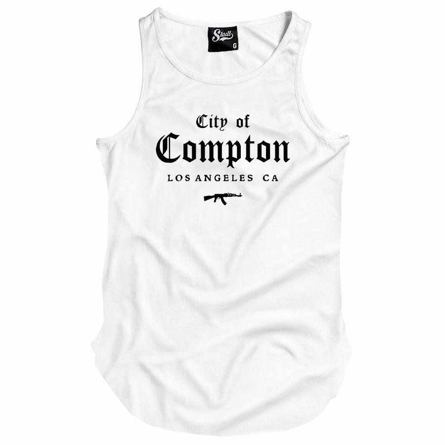 camiseta regata city of compton gangster hip hop swag kings. Carregando  zoom. 9bb3d2ae07e