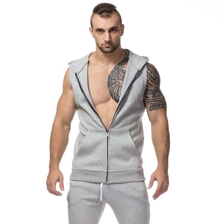 Camiseta Regata Com Ziper Capuz Machão Masculina Toca - R  49 758201c1dd6