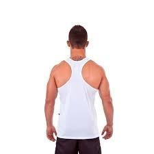 593b1fd3a48cd Camiseta Regata Dry P musculação - Branca - Rudel - R  49