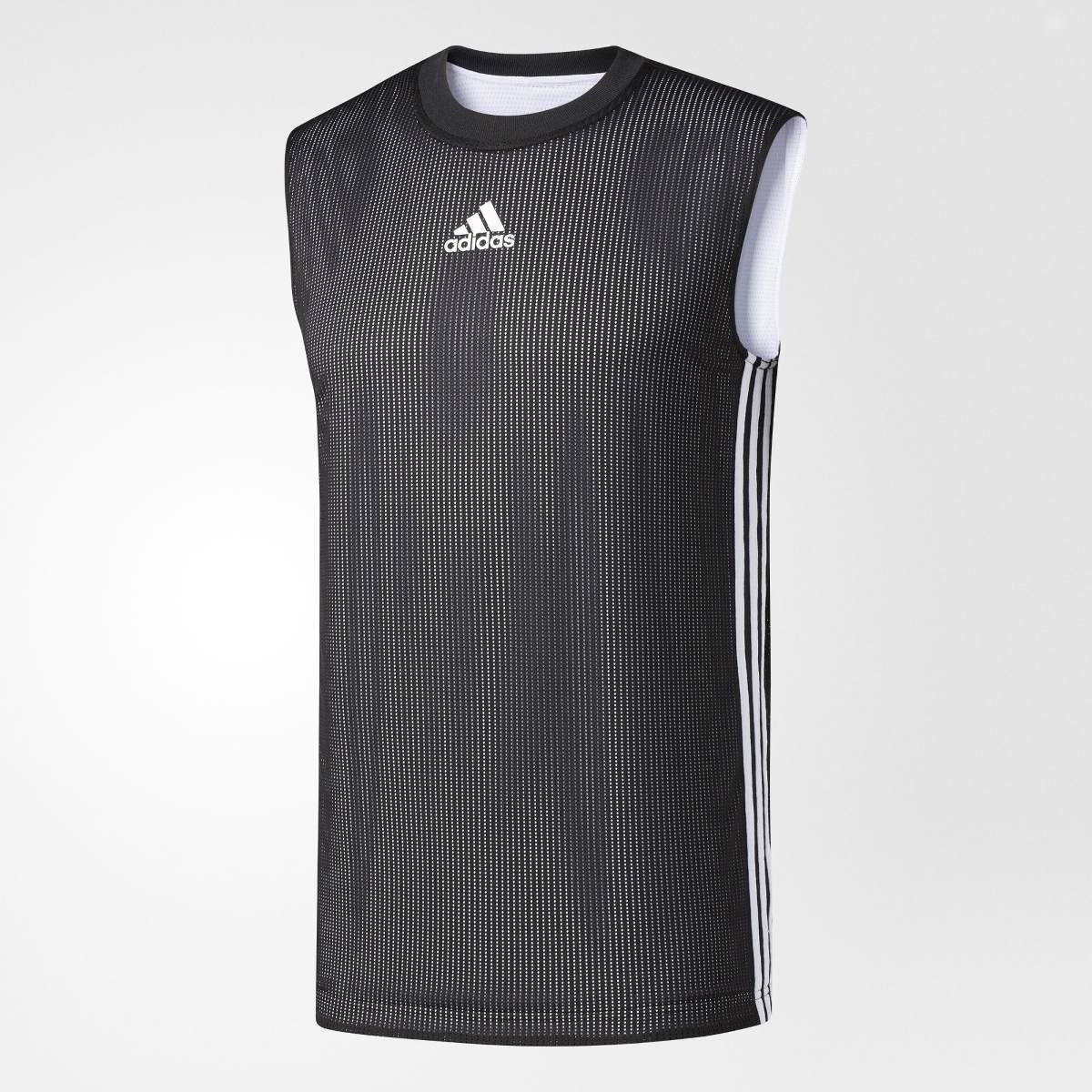9f04d6422f camiseta regata dupla face adidas 2017 18 - preto   branco. Carregando zoom.