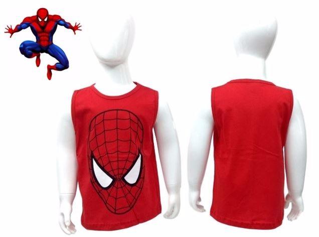 cb37afac1 Camiseta Regata Fantasia Spiderman Homem Aranha - R  12