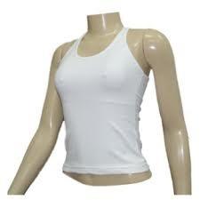 4b60738cd1 Camiseta Regata Feminina Branca 100% Poliester - - R  22