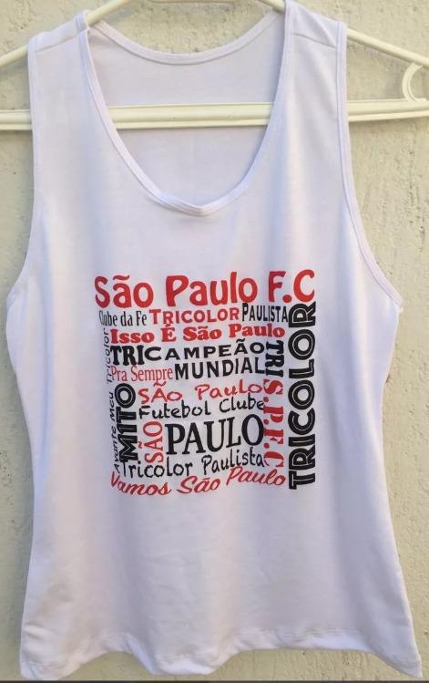 Camiseta Regata Feminina Futebol São Paulo Team Collections - R  29 ... ffeabe931d7