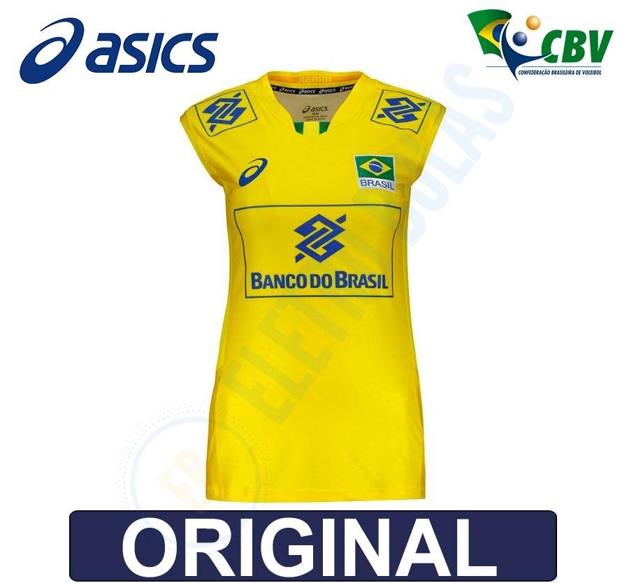camiseta regata feminina vôlei seleção brasileira cbv asics. Carregando  zoom. f989877c6bfdd