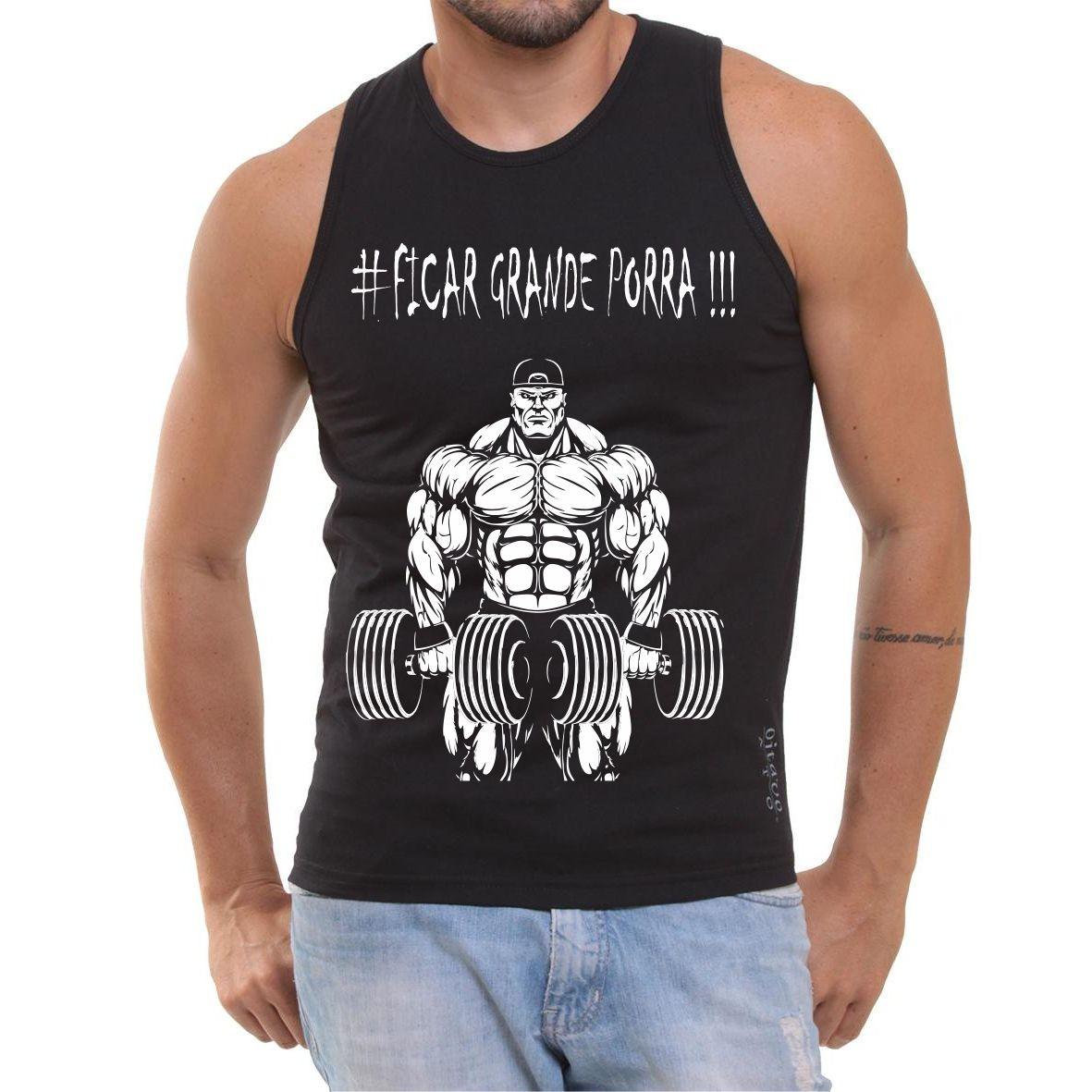 Camiseta Regata Ficar Grande Porra Musculação Fitness Top - R  30 55b5c72bac1