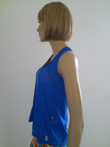 camiseta regata fitness feminina azul royal tam p afrodite