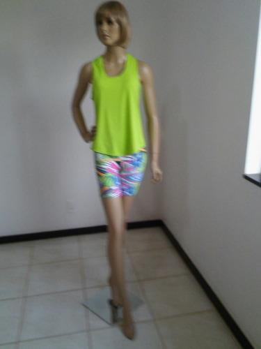 camiseta regata fitness feminina verde limão tam p afrodite