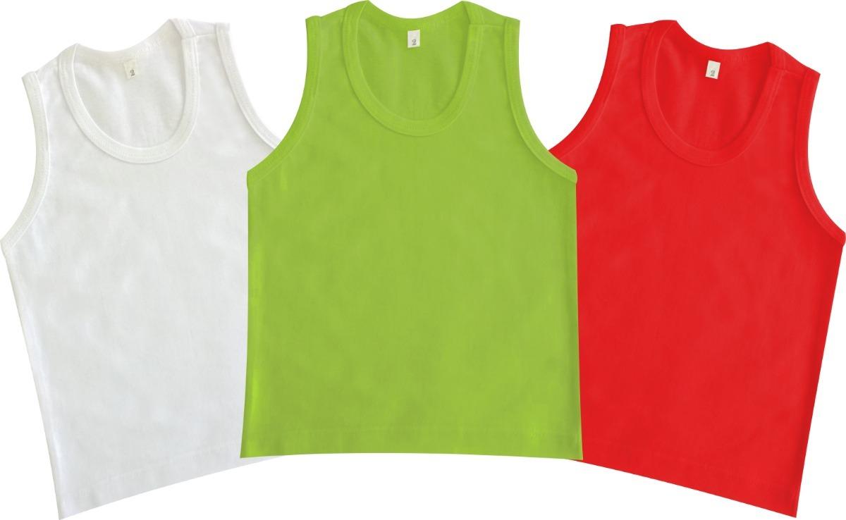 Camiseta Regata Infantil - Kit 8 Peças - Tam. 01 A 06 Anos - R  120 ... 891a3c92386