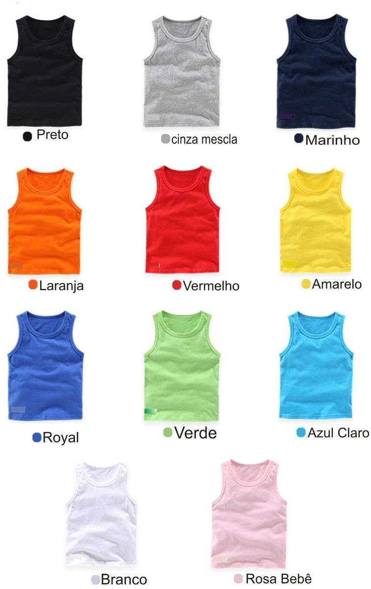 7638e1339 camiseta regata infantil lisa kit 10 peças. Carregando zoom.