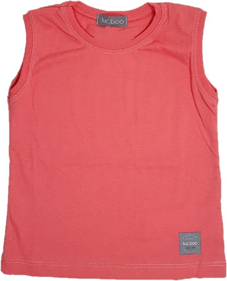 2b4085dae camiseta regata infantil menino estilo machão salmão luc boo. Carregando  zoom.