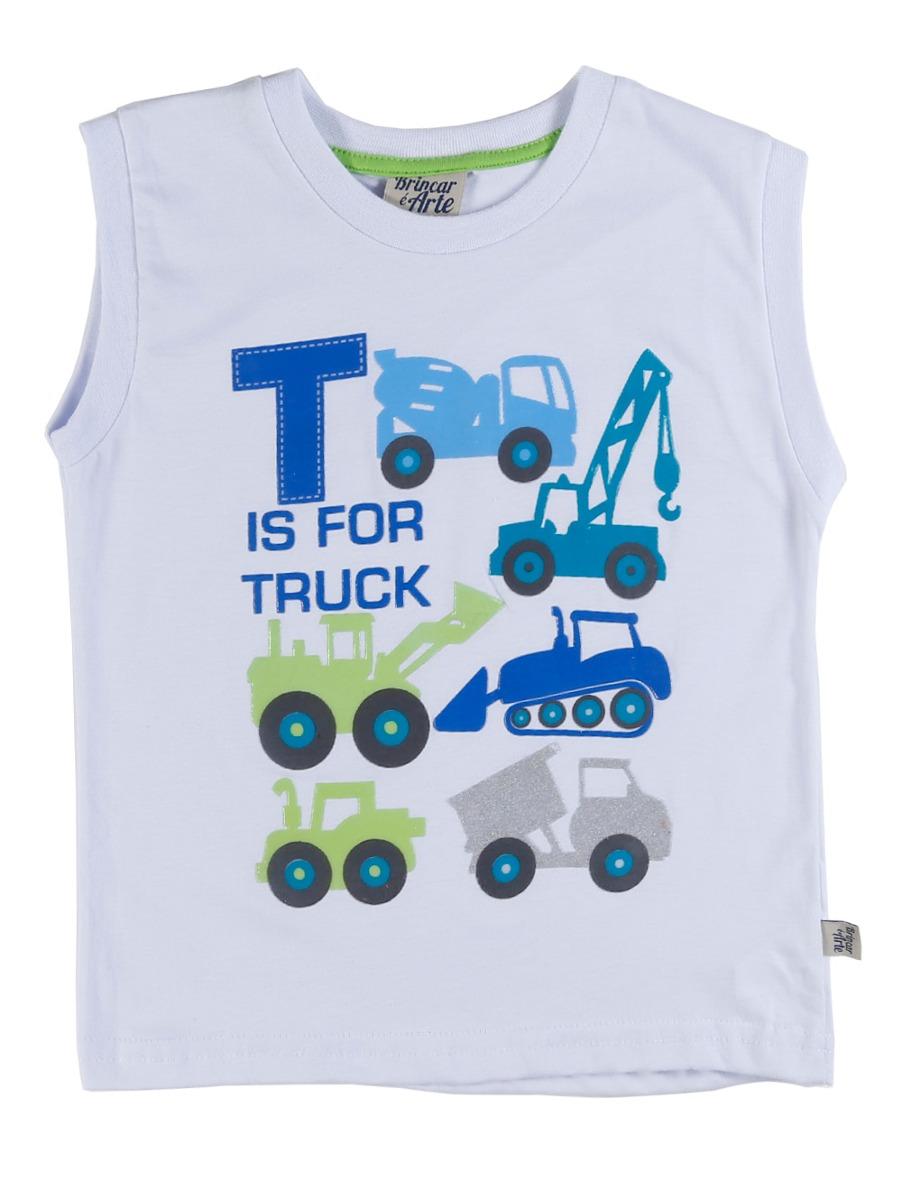 camiseta regata infantil para menino - branco. Carregando zoom. 3903cfd94b4