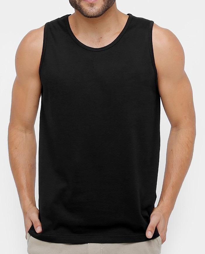 camiseta regata machão preta lisa 100 % algodão ideal p silk. Carregando  zoom. 2eb29377169