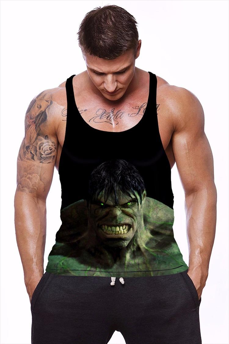 camiseta regata masculina academia hulk 3d dry fit. Carregando zoom. 970e16fab6f