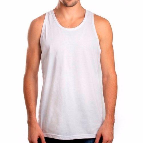 Camiseta Regata Masculina Branca 100%algodão 0fa7e10cef95b