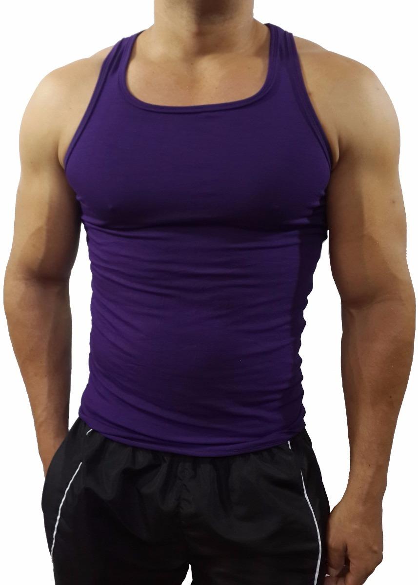 camiseta regata masculina elástica básica academia slim. Carregando zoom. f9cae6d4a87