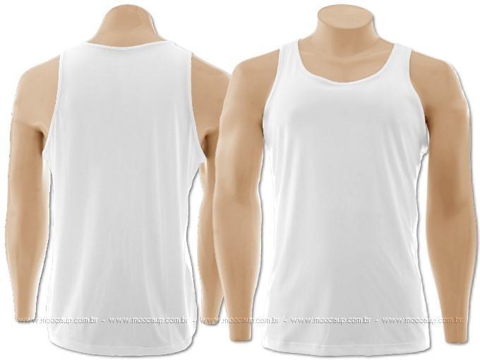 Camiseta Regata Masculina Em Polyester Branca Para Sublimaca - R  9 ... cceed9172fe