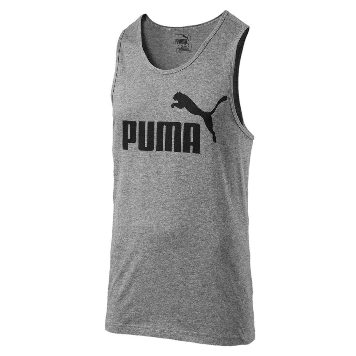 Camiseta Regata Masculina Ess No.1 Tank - Puma - Cinza Mescl - R  48 ... fdc3fa013e3
