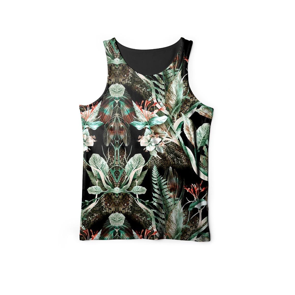 fe55d2327b camiseta regata masculina floral tropical verde estampada. Carregando zoom.