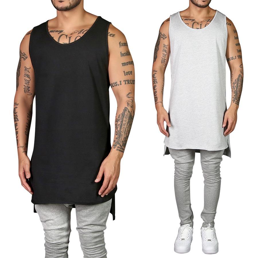 camiseta regata masculina long line oversized lisa algodao. Carregando zoom. 6bfc26939e6