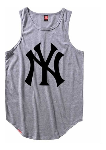 camiseta regata masculina longline new york