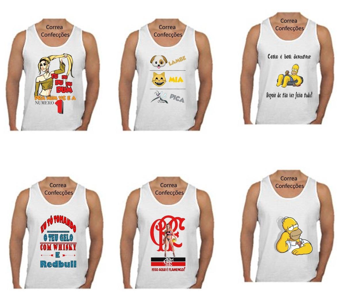 camiseta regata masculina personalizada carnaval. Carregando zoom. c0ca3568d65