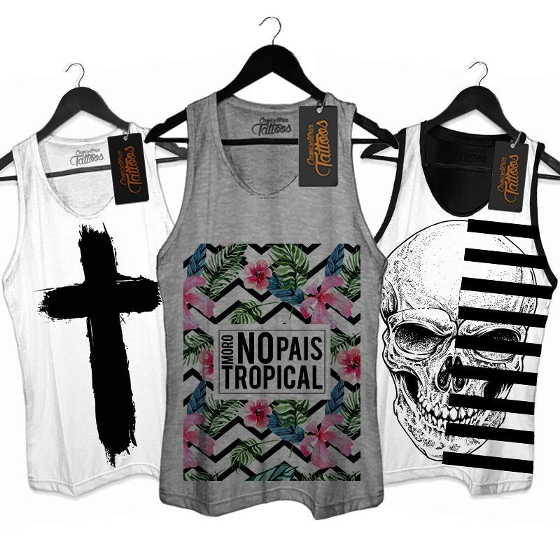 camiseta regata masculina verão brasil tropical moda praia. Carregando zoom. 0e5be2802d4