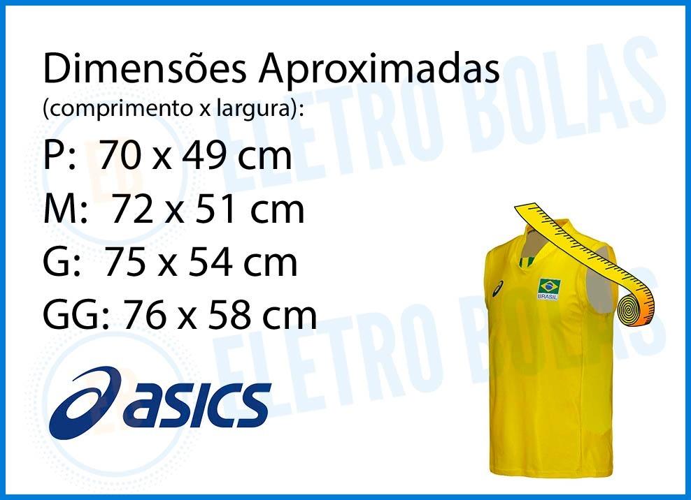 77012d11a6 camiseta regata masculina vôlei seleção brasileira cbv asics. Carregando  zoom.