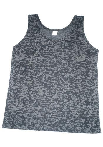 camiseta regata mesclada feminina - preto