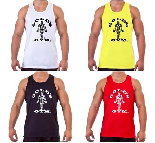 camiseta regata musculação gold's gym