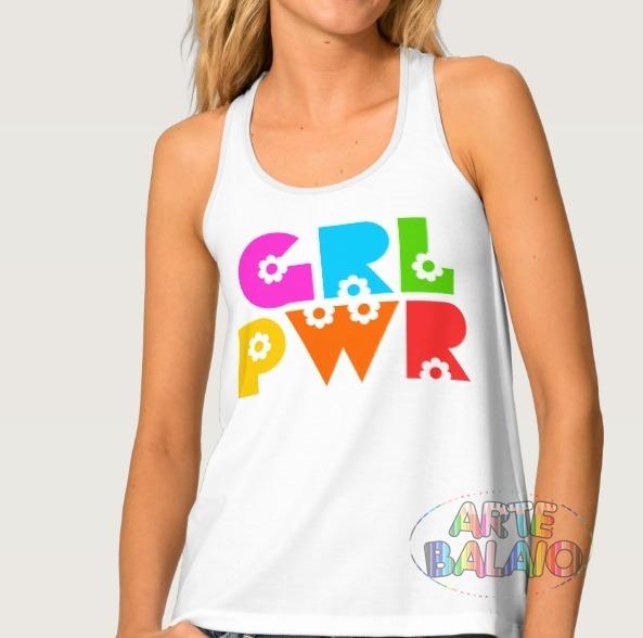 4397ffb69c9105 Camiseta Regata Nadador Anos 90 Girl Power Tumblr